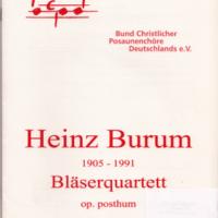 Heinz Burum Bläserquartett cover